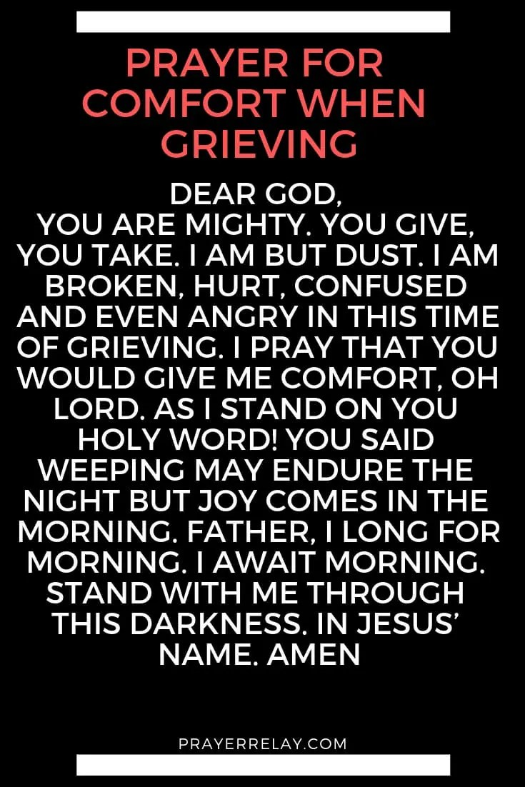 PRAYER FOR COMFORT WHEN GRIEVING