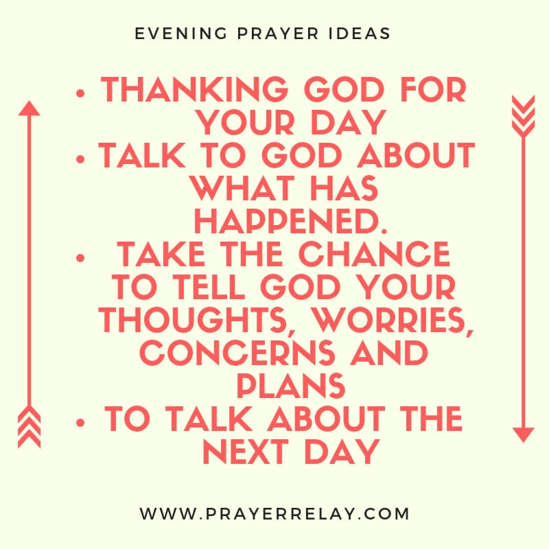 evening prayer ideas
