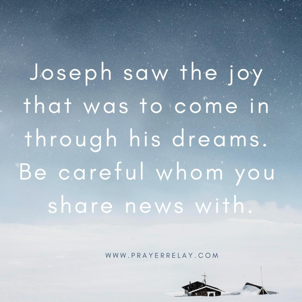 Joseph saw the joy that was to come