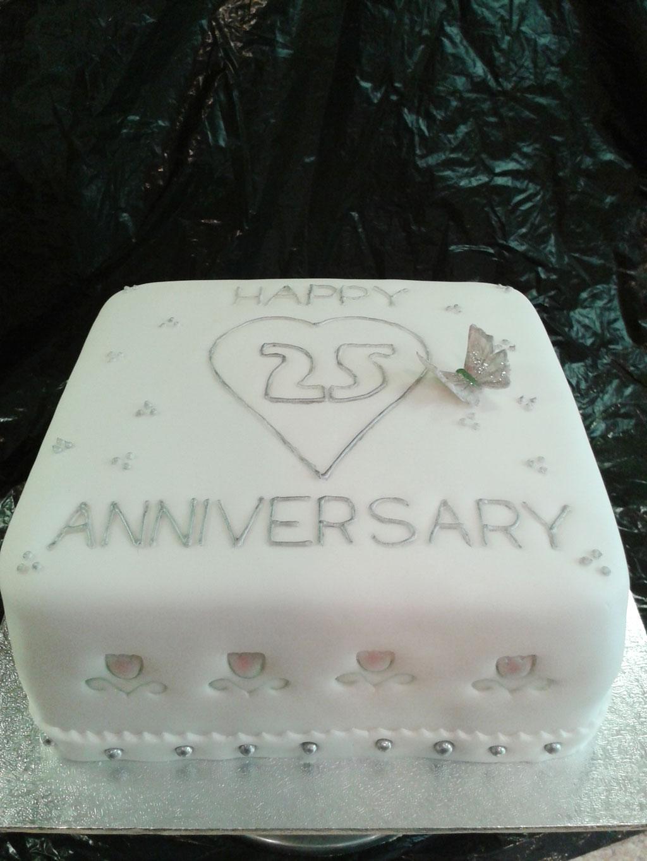 25th Wedding Anniversary Cake Idea To Copy Wedding Cake