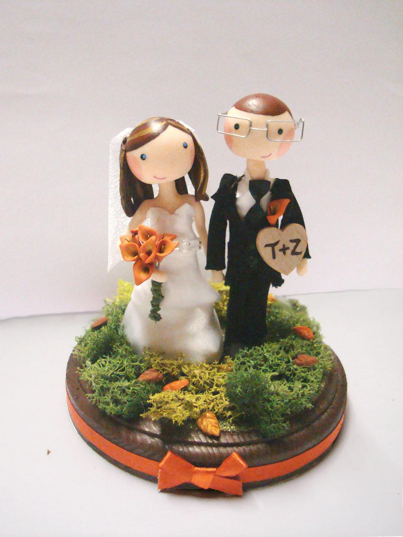 Custom Autumn Wedding Cake Topper Wedding Cake