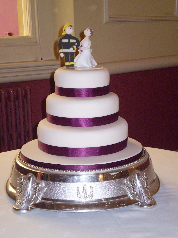 Firefighter Bride And Groom Wedding Cake Wedding Cake