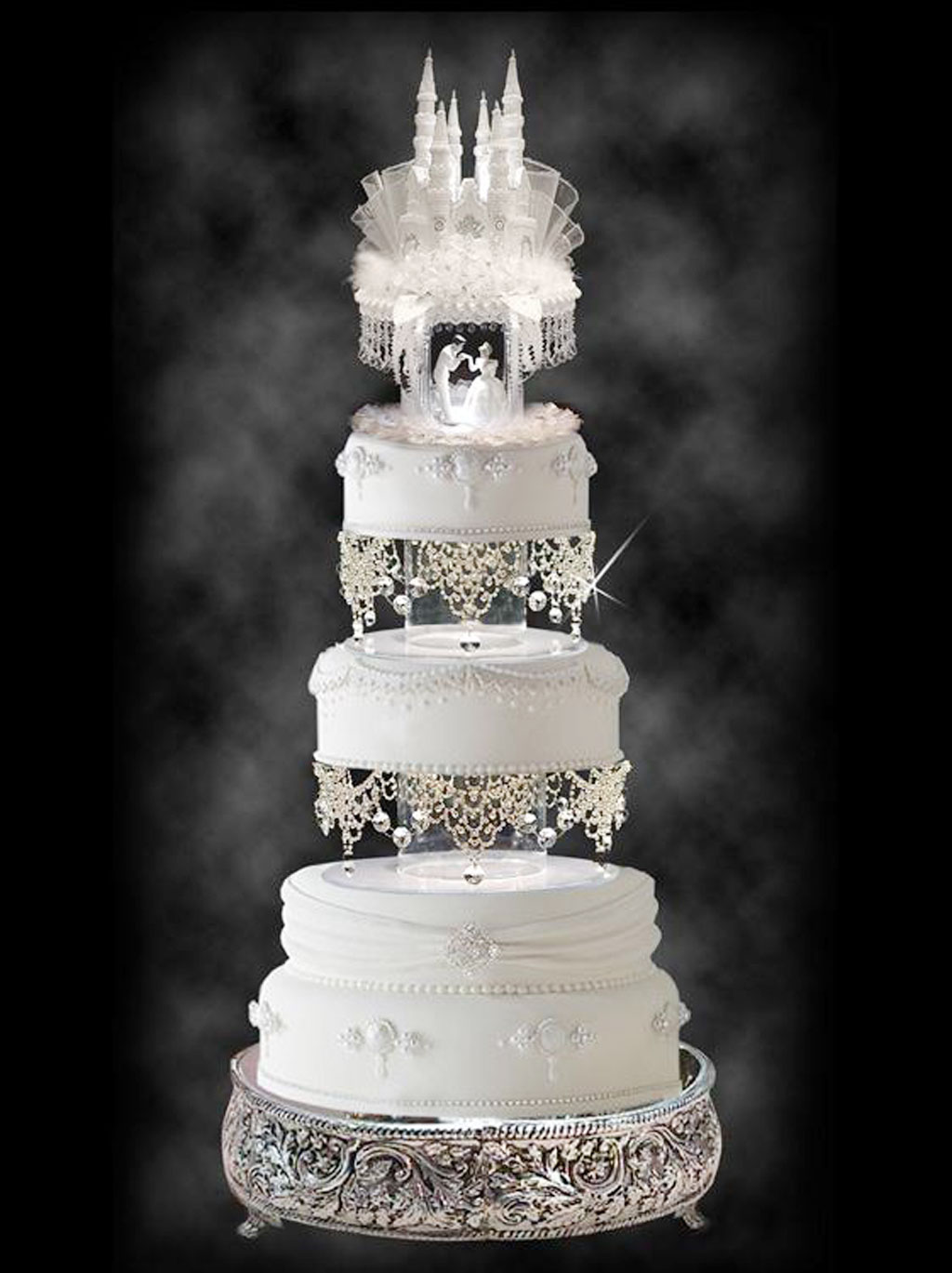 Lighted Cinderella Castle Wedding Cake Wedding Cake