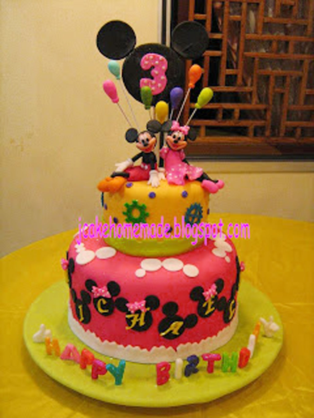 Mickey Mouse And Minnie Mouse Birthday Cake Birthday Cake
