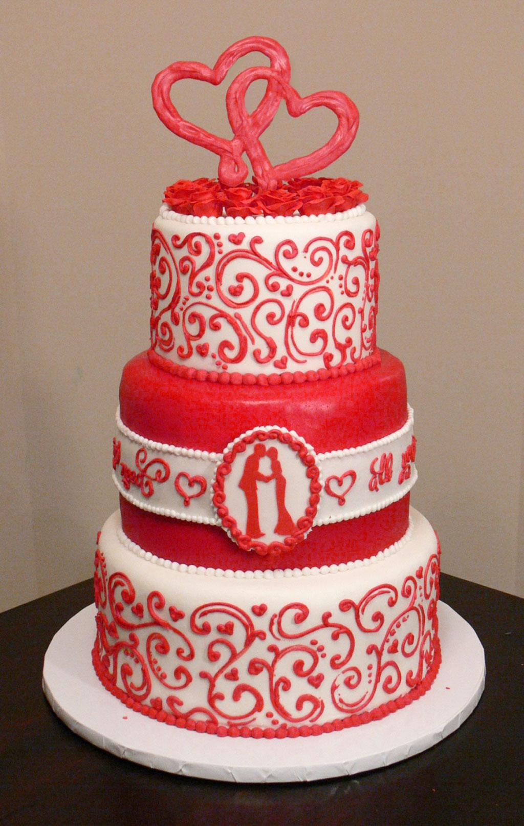 Valentines Wedding Cake Wedding Cake