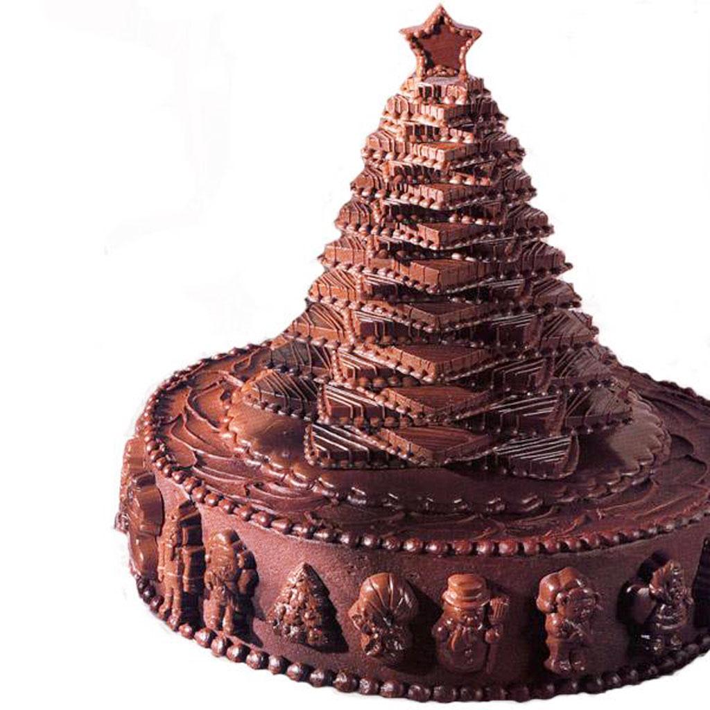 Christmas Tree Cakes With Chocolate Chocolate Cake