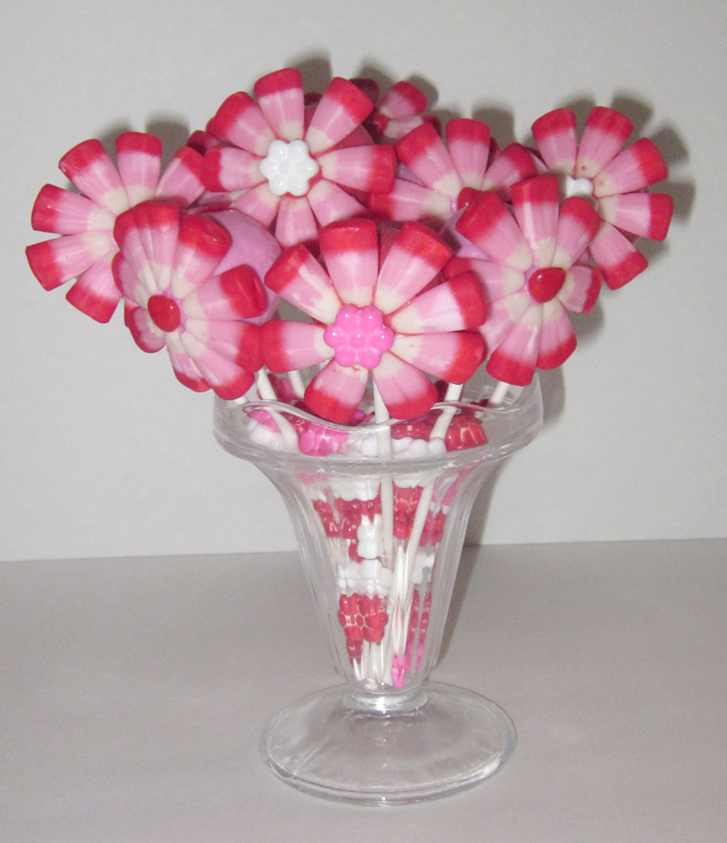 Valentines Cake Pop Flower Bouquet Valentine Cakes