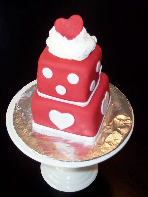 Valentines Day Fondant Mini Cake Valentine Cakes