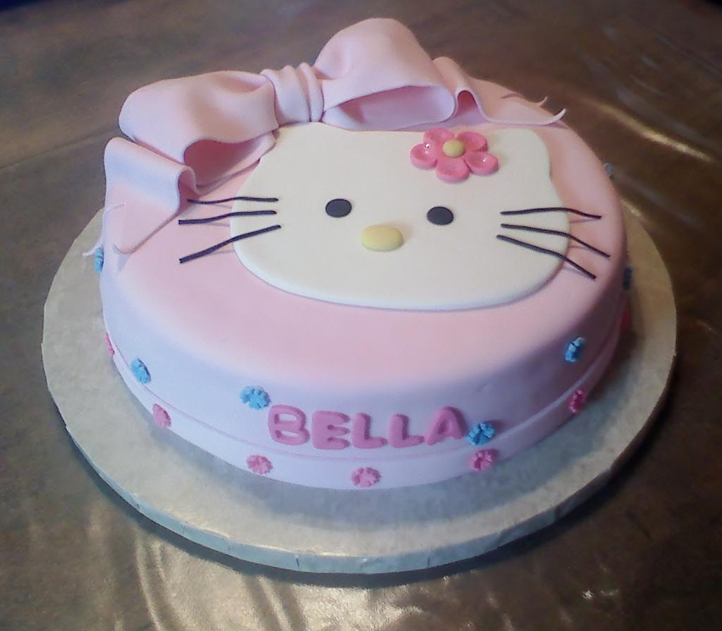 Hello Kitty Cake Decorating Birthday Cake
