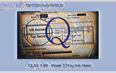 Qanon May 18, 2020 – Week 3: You Are Here