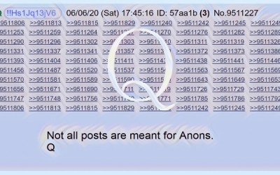 Qanon June 8 2020 – Not All Posts Are Meant For Anons