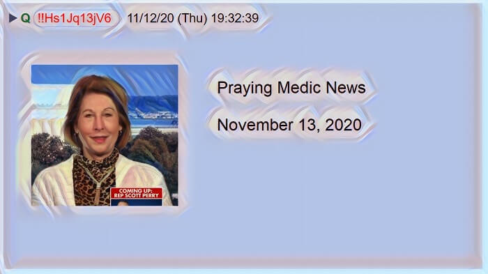 Praying Medic News 11-13-2020