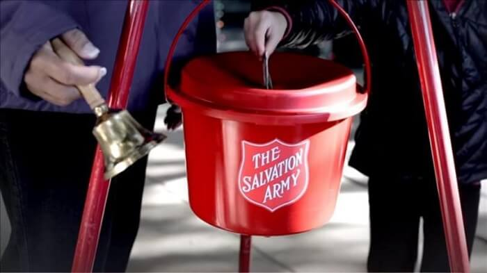 salvation army bell ringer