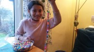 The girls' discipleship group in Rankovce continues to make creative crafts that teach a lesson.