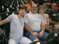 MY AUNT & UNCLE & I AT A BASEBALL GAME
