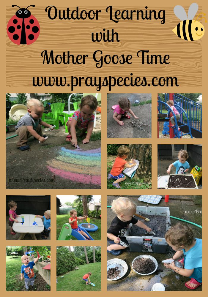 outdoor learning with mother goose time Collage