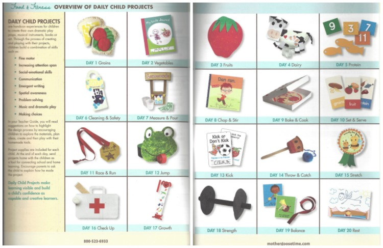 Overview of Daily Child Projects for Food and Fitness