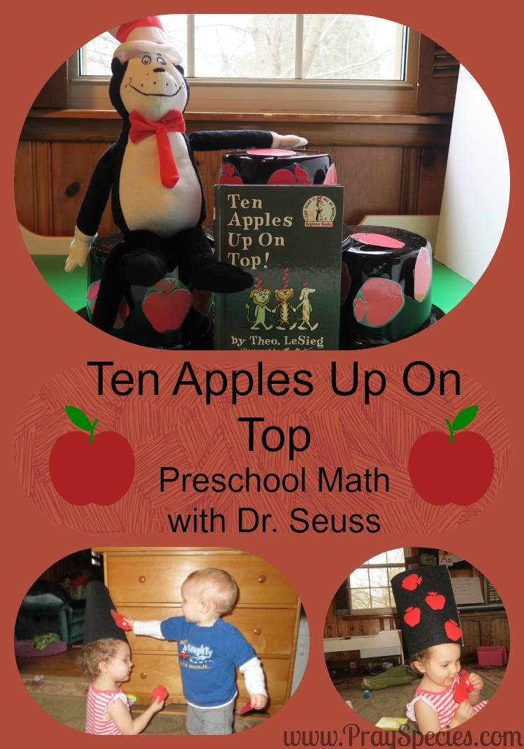"Our family loved playing this early math game focused on learning the meaning of numbers 1-10. The activity goes with the book ""Ten Apples Up On Top!"" by Dr. Seuss! Perfect for our toddler and our preschooler. Mom and Dad had fun too!"