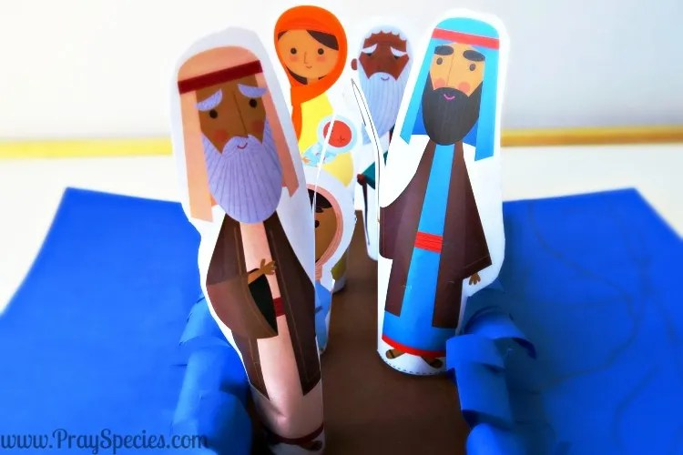 Moses parted the red sea finger puppets