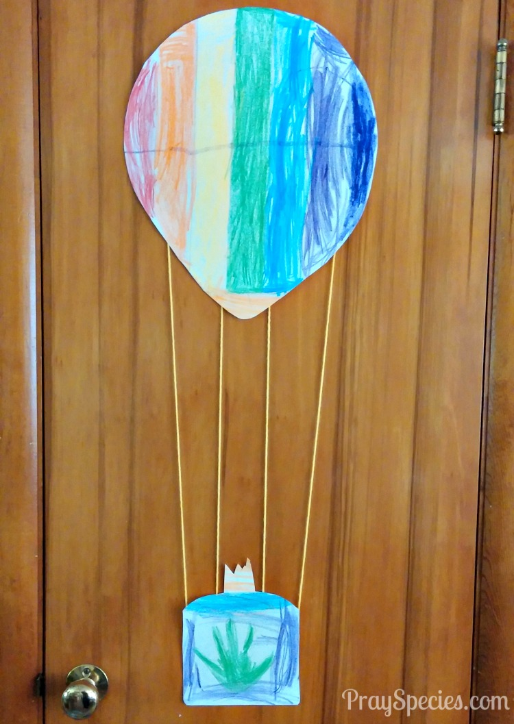 finished hot air balloon