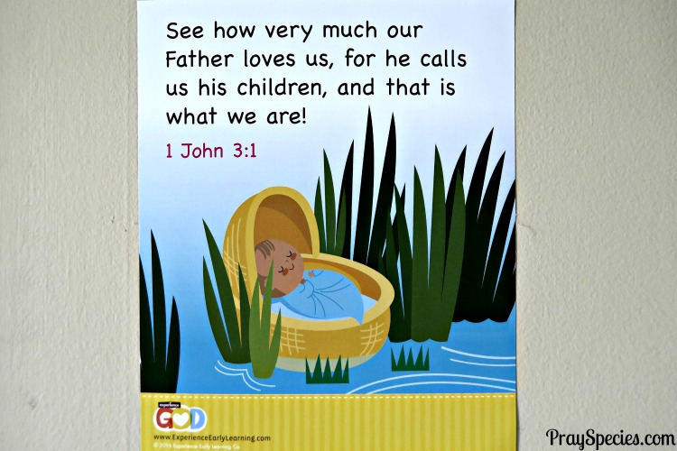 Exp God Bible Verse Moses Baby Basket John MGT