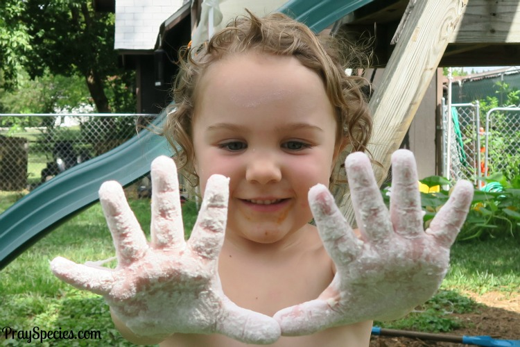 I used chalk on my hands like in the olympics