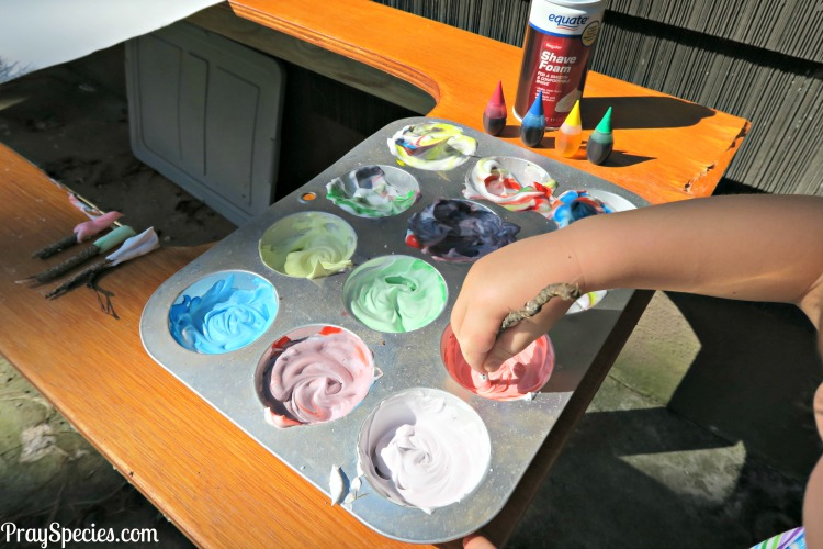 shaving cream paint