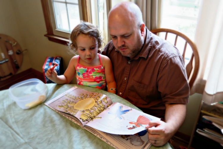 reading ada lovelace with daddy