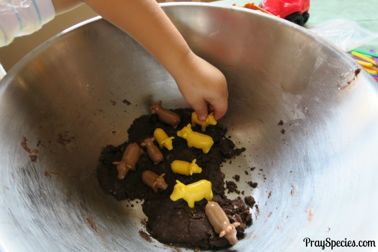 bowl-with-mud-and-cows-mud-play-dough-mgt