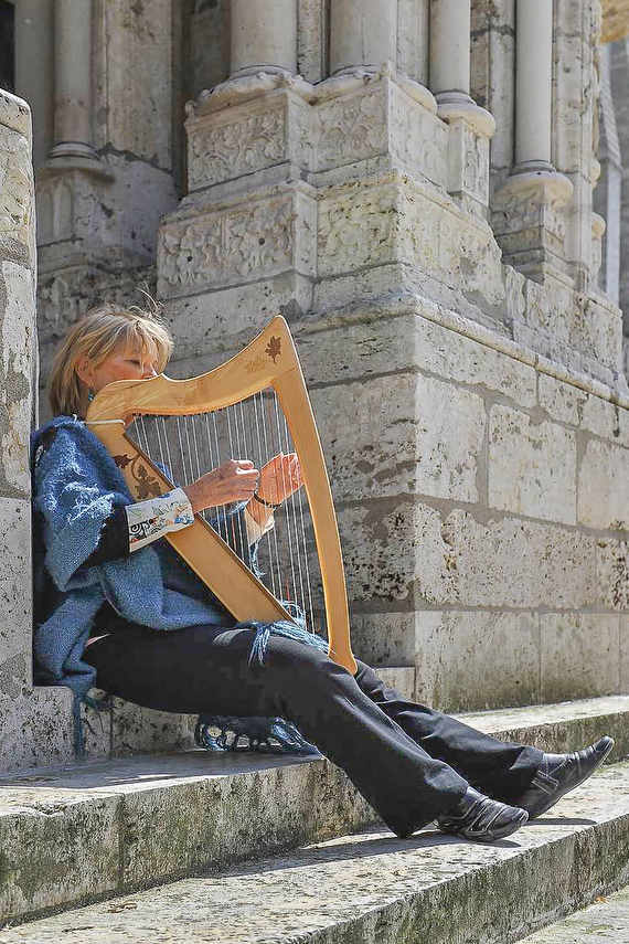 Harp Player, North Porch