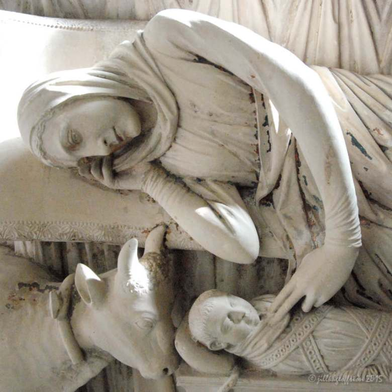 Closeup of Mary and Jesus, Rood Screen