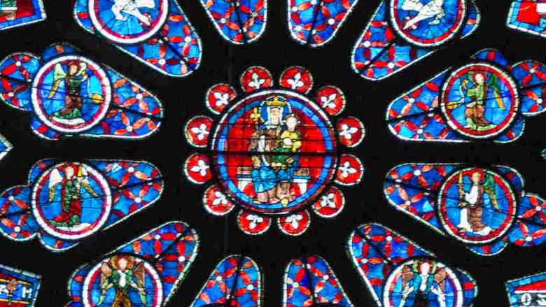 Center of South Rose Window, 13th century