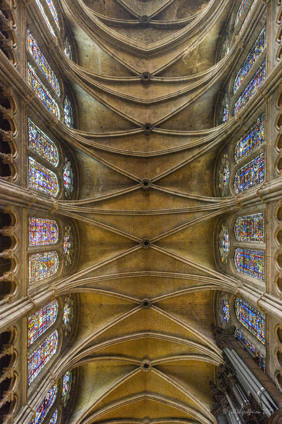 Ceiling and windows above the nave by Jill K H Geoffrion