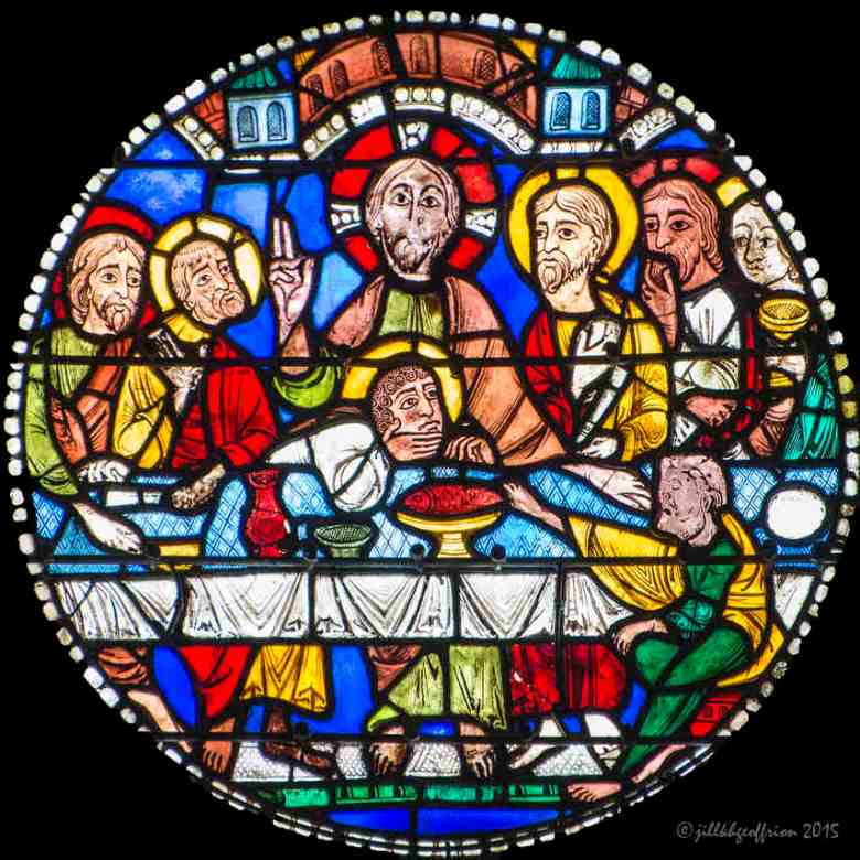 The Last Supper in the Passion and Resurrection Window by Jill K H Geoffrion