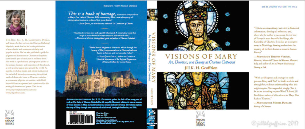Front and Back covers of Visions of Mary: Art, Devotion, and Beauty at the Chartres Cathedral by Jill K H Geoffrion