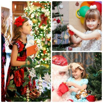 Дети наряжают елку