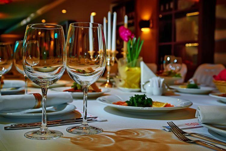 ужин в ресторане