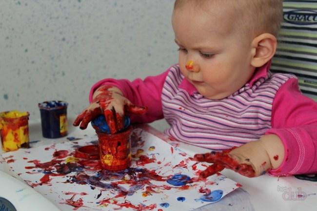 рисунок паьчиковыми красками