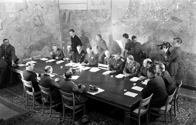 подписание акта о капитуляции Германии