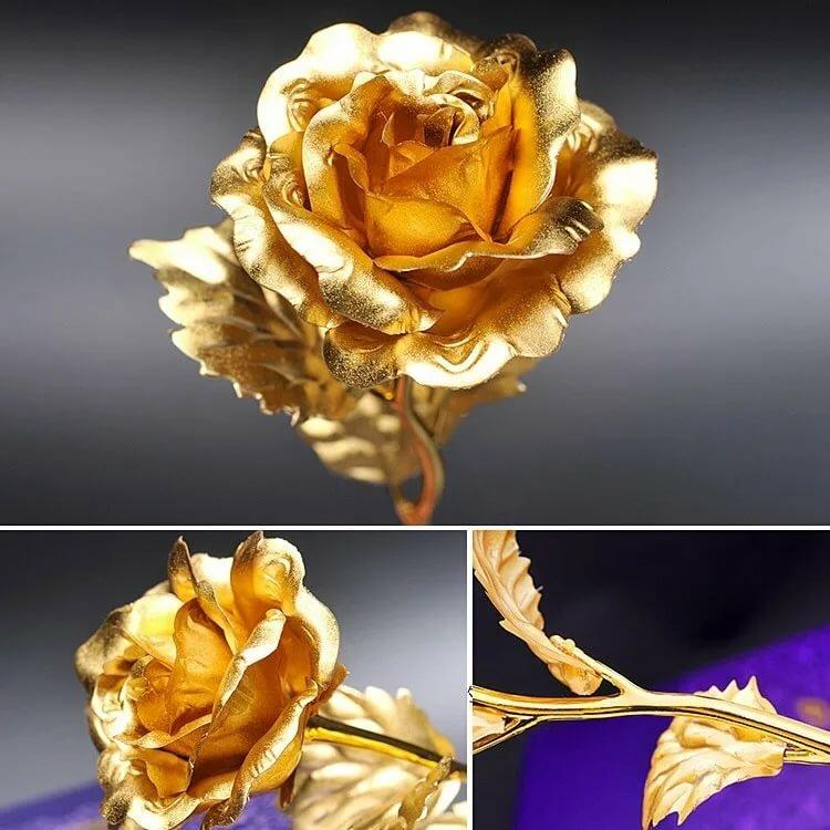 роза в золоте