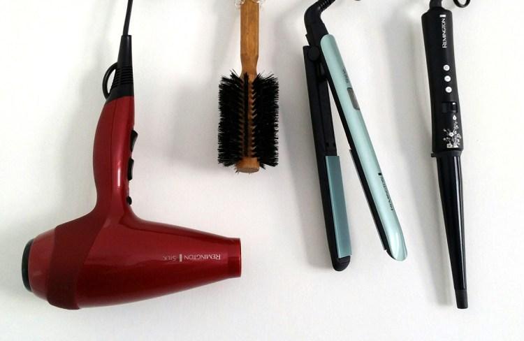 утюжок и фен для волос