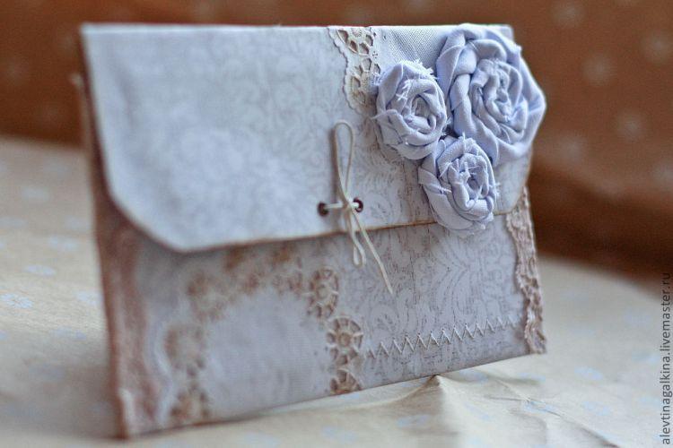 тканевой конверт для денег