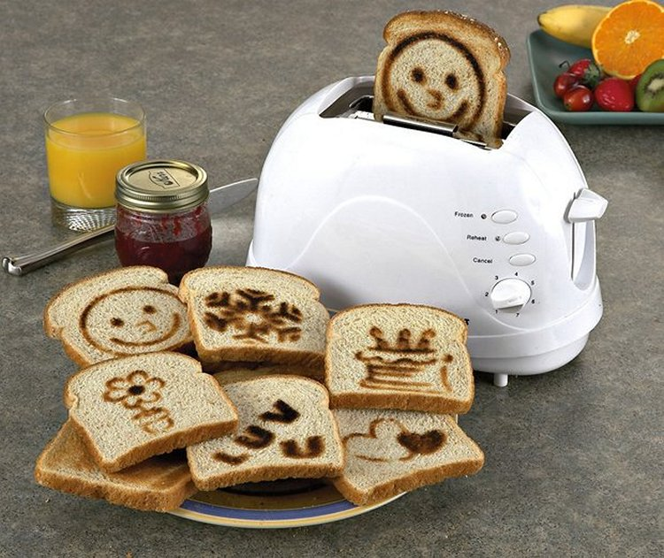 тостер со смайликами