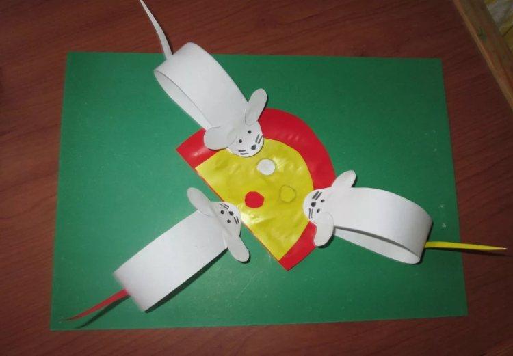 мышки из бумаги своими руками