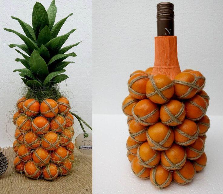 ананас из шампанского и мандаринов