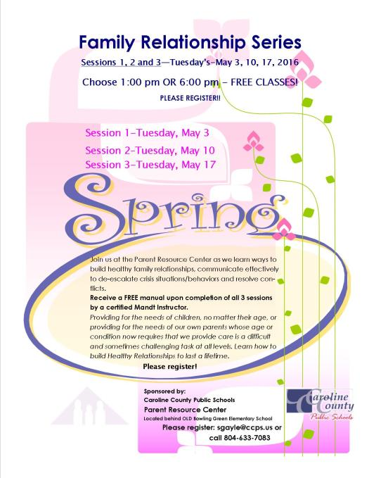 Family Relationship Series spring flyer-May 2016