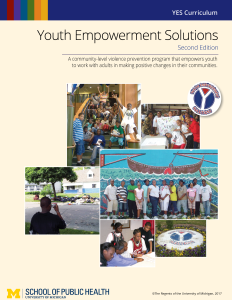 An image of the cover of the Youth Empowerment Solutions Curriculum, 2nd Edition