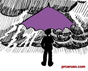 Paraguas en la tormenta