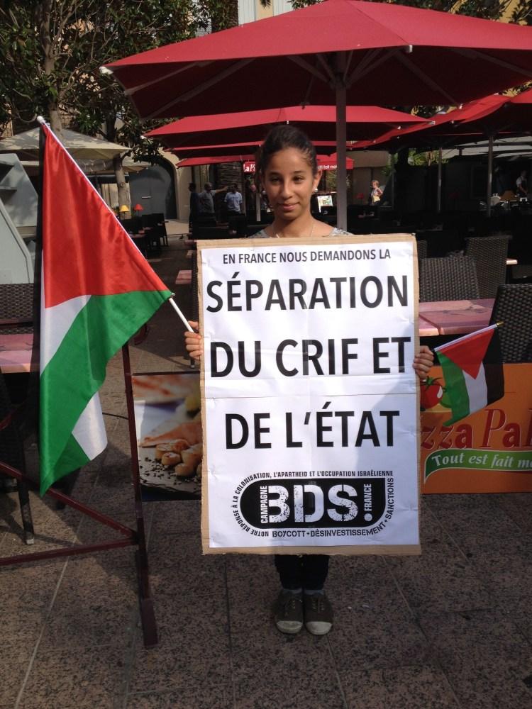 Manifestation de soutien au Peuple Palestinien, Perpignan 23-07-14 (2/6)