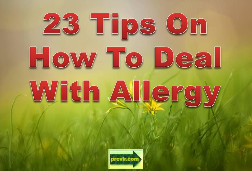 23 allergy tips